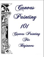 Canvas Painting For Beginners, A Free Ebook, Compliments Of The Author of the Old-Fashioned Regency Romance novel, A Very Merry Chase
