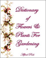 Dictionary of Flowers and Plants For Gardening, A Free Ebook, Compliments Of The Author of the Old-Fashioned Regency Romance novel, A Very Merry Chase