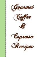 Gourmet Coffee And Espresso Recipes, A Free Ebook, Compliments Of The Author of the Old-Fashioned Regency Romance novel, A Very Merry Chase